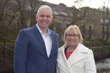 Sheryll Murray MP and Cornwall Council Candidate Clay Cowie