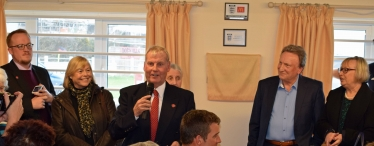 Club Chairman Adrian Jackson speaks at the opening.