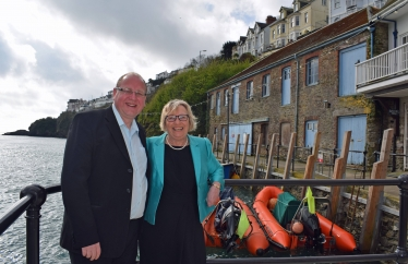 Bob & Sheryll at the Old Sardine Factory in Looe